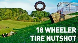 18-Wheeler Tractor Trailer Tire Nutshot!