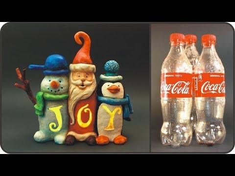 ❣DIY Christmas JOY Sign Recycling Plastic Bottles❣