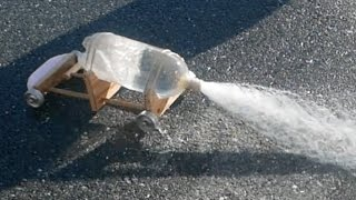 Soda Bottle Rocket Car-Physics of Toys // Homemade Science with Bruce Yeany