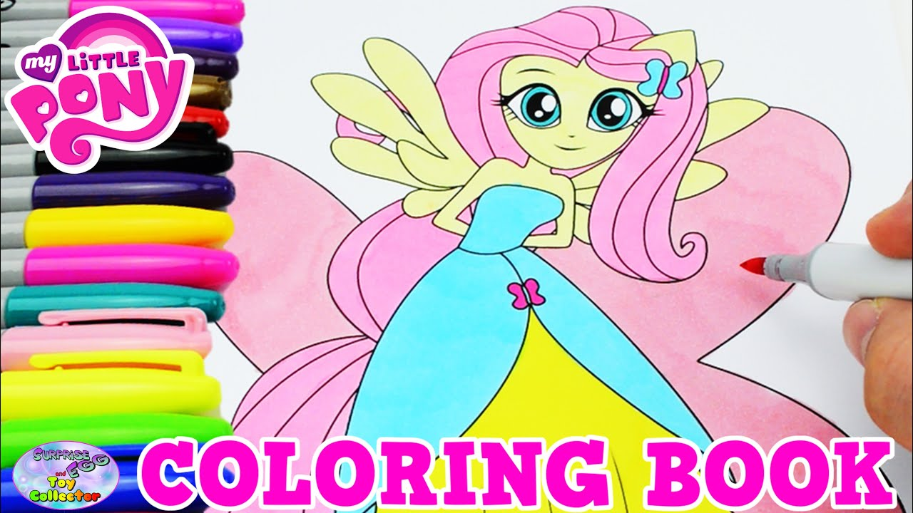 My Little Pony Coloring Book Fluttershy MLPEG Episode Surprise Egg
