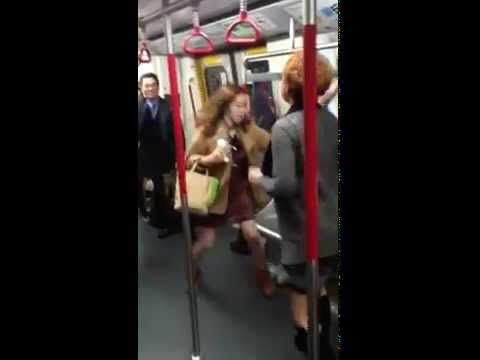 Hong Kong women cat fighting - 7 January 2014