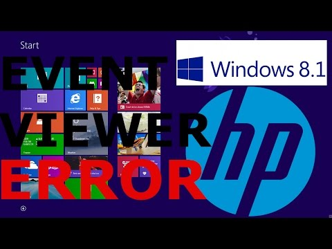 EVENT VIEWER ERROR FIX windows 8.1