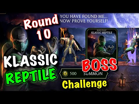 Klassic Reptile Challenge Round 10 BOSS | MK Mobile (500 Reptile Eyes)