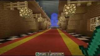 Minecraft - secret door with combination lock in library / Porta secreta em biblioteca