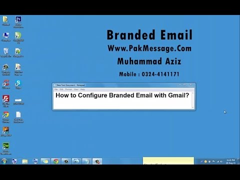 How to Use Domain Branded Email With Gmail In Urdu/Hindi