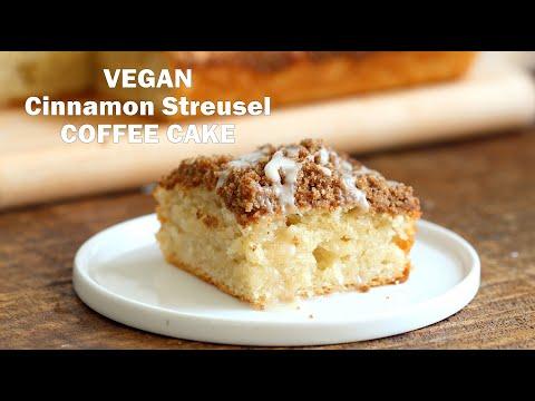 VEGAN COFFEE CAKE - Cinnamon Streusel Cake | Vegan Richa Recipes