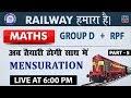 Mensuration 3D | Part 5 | Railway 2018 | Maths | Live at 6:00 PM