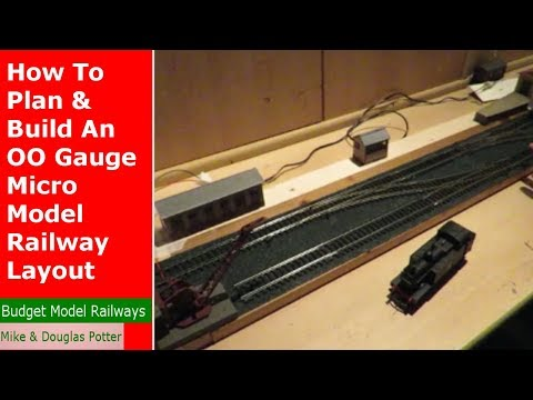 How To Plan & Build An OO Gauge Micro Shunting / Switching Model Railway / Railroad Layout