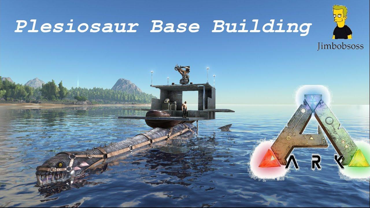 ARK Survival Evolved Base Building On A Plesiosaur