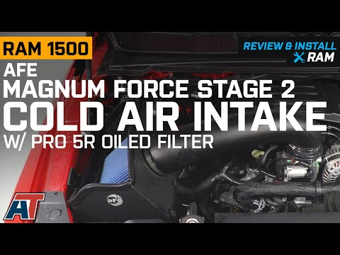 2019 RAM 1500 AFE Magnum FORCE Stage 2 Cold Air Intake w/ Pro 5R Oiled Filter Review & Install