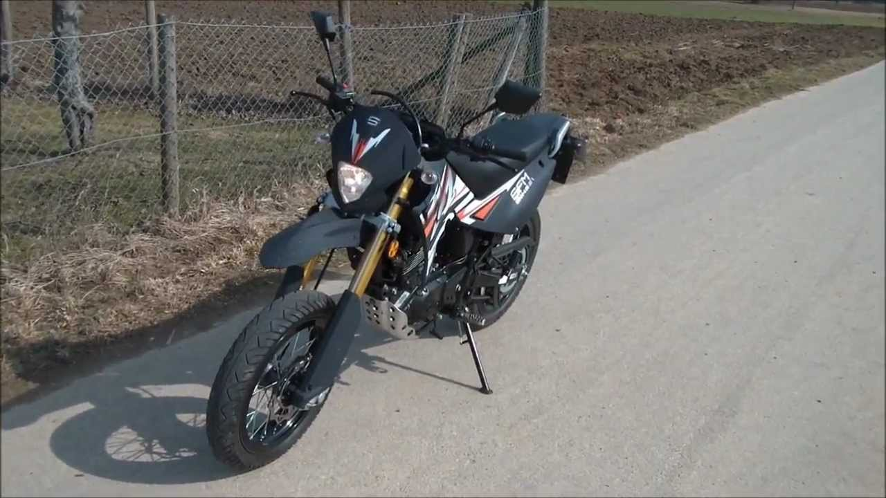 sachs zz 125 supermoto soundcheck drive youtube. Black Bedroom Furniture Sets. Home Design Ideas