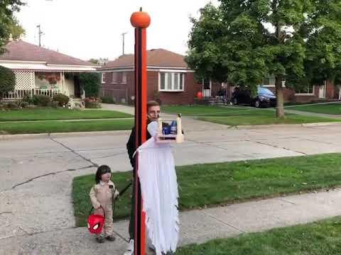My Halloween Zip Line for Social Distancing