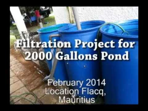 55 gallons drum filter project for koi pond youtube for Diy sand filter for pond