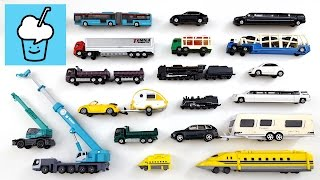 Learning Long and Short for kids with tomica トミカ VooV ブーブ 変身 vehicles siku