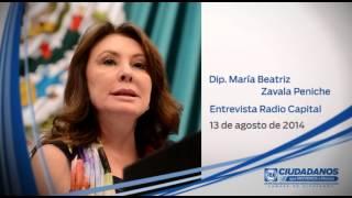Entrevista Dip María Beatriz Zavala Peniche 13 08 2014