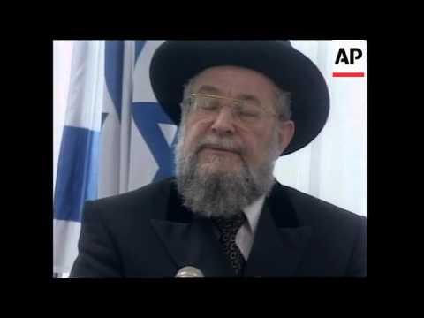 ISRAEL: RABBI  ATTACKS CATHOLIC CHURCH OVER HOLOCAUST