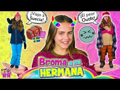 BROMA a mi HERMANA 馃槇EXPECTATIVA Vs REALIDAD de QU脡 HAY EN MI MALETA 馃СBromas divertidas a youtubers