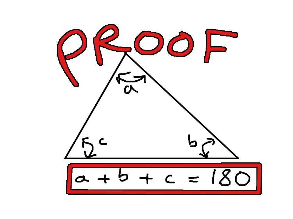 Proof that Sum of Angles in ANY Triangle = 180 degrees - YouTube