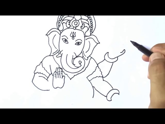 How to draw Ganesha easy Drawing Ganpati