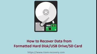 Format Recovery | recover formatted external drive usb drive sd card