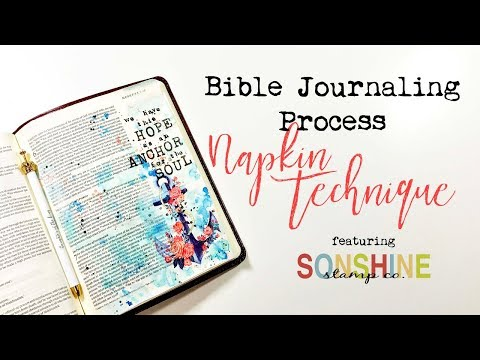 Bible Journaling Process | Napkin Technique featuring Sonshine Stamp Co