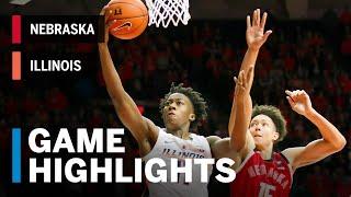 Highlights: Nebraska at Illinois | Big Ten Basketball