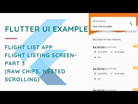 Flight List UI Example In Flutter   Flight Listing Screen   Part 3