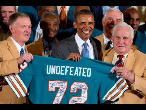 President Obama Honors 1972 Super Bowl Champion Miami Dolphins