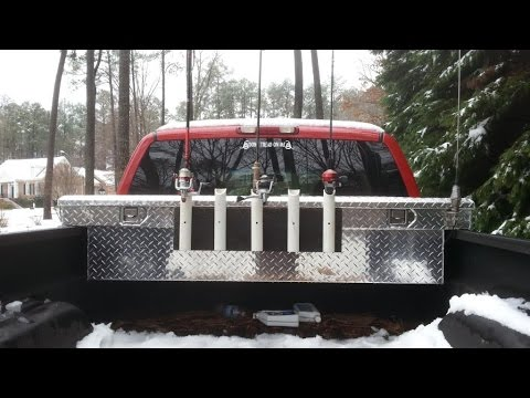 Truck Fishing Pole Rack
