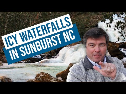 Icy Waterfalls in Sunburst NC