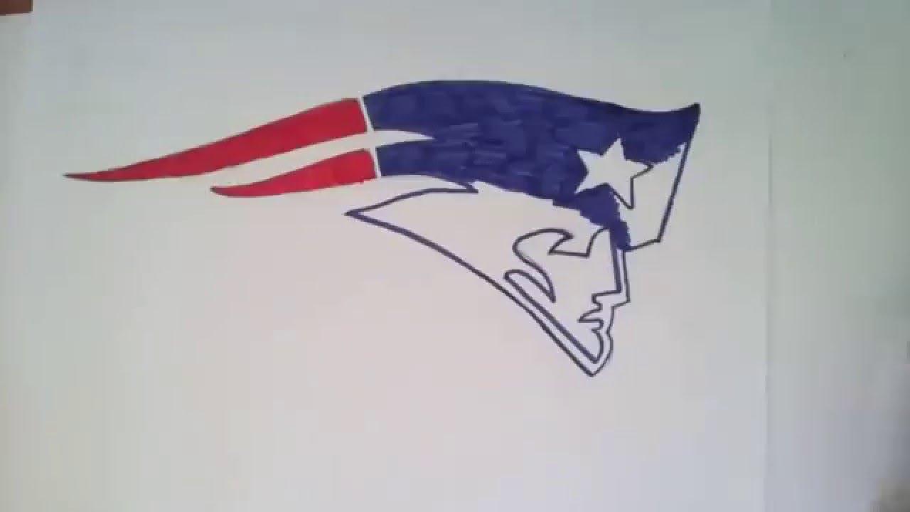 How To Draw New England Patriots Logo Youtube