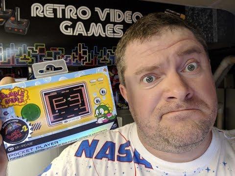 My Arcade Bubble Bobble Portable Pocket Player Review Happy Ending Bad Ending
