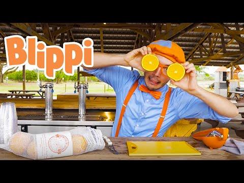 Blippi Visits an Orange Farm | 1 Hour of Blippi Videos For Kids | Learning For Children