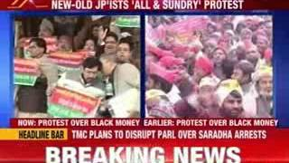 JDU, SP, RJD protest against government over black money issue