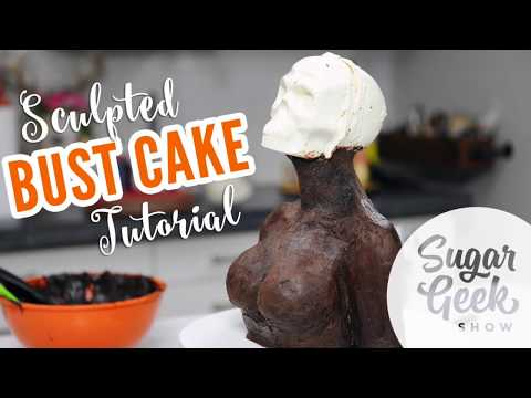 Chocolate Skull Demo and Carved Bust Cake Tutorial