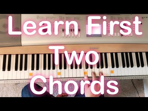 Learn First Two Piano Chords Beginner Lesson Country Song