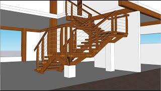 Curso de Maquete Eletrônica com SketchUp - Aula 15/50 Escada Parte 2 - Autocriativo