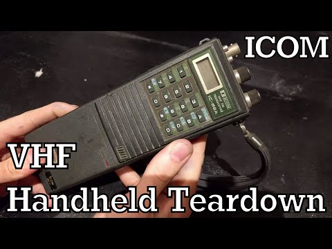 ICOM IC-02A Teardown - VHF Handheld Radio
