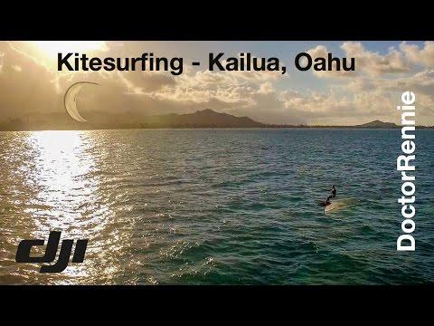 Kitesurfing with Ben Corbett (Hydrofoil) - Kailua Beach, Oahu