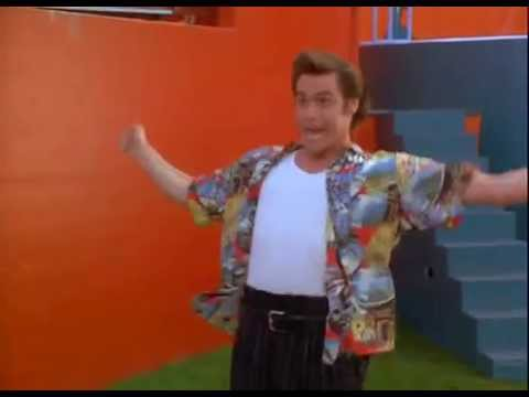 "Jim Carrey as The Crazy Dolphin Trainer from ""Ace Vantura: Pet Detective"""