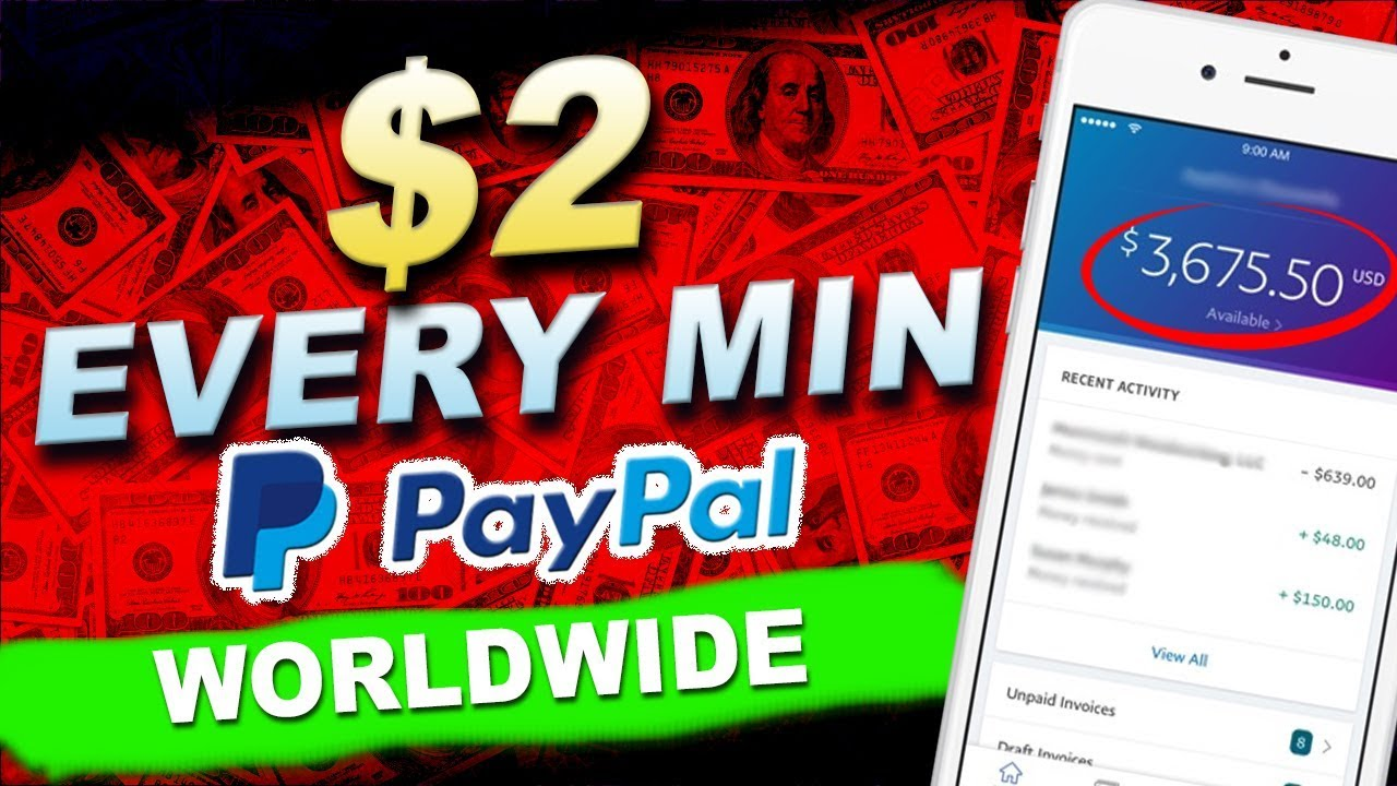 Earn money through paypal today