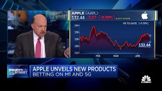 Jim Cramer on Goldman, Morgan Stanley's calls on Apple after new product announcements