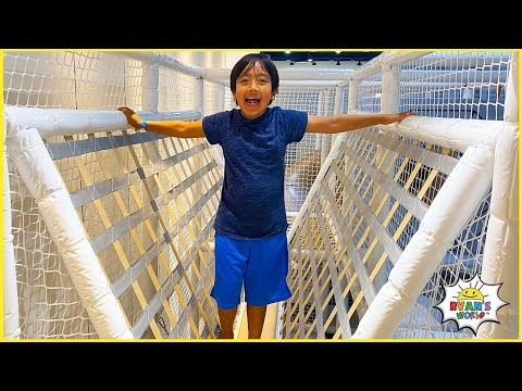 Ryan plays at Indoor Playground in Hawaii!