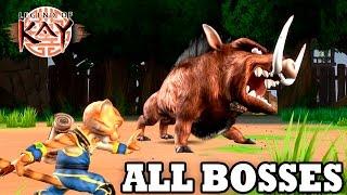 Legend of Kay Anniversary - All Bosses HD