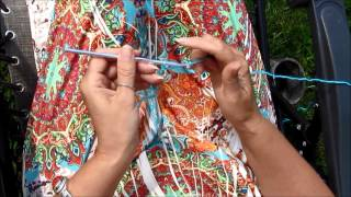 How to make a Basic chain stitch in crochet (Left handed)