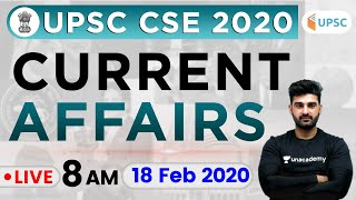 Daily Current Affairs 2020 in Hindi by Sumit Sir | UPSC CSE 2020 |18 Feb 2020 The Hindu, PIB for IAS