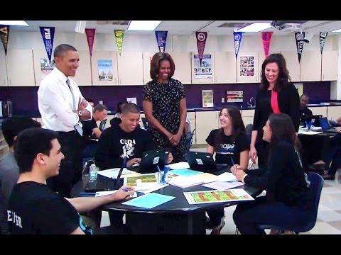 President Obama Visits a Florida Classroom