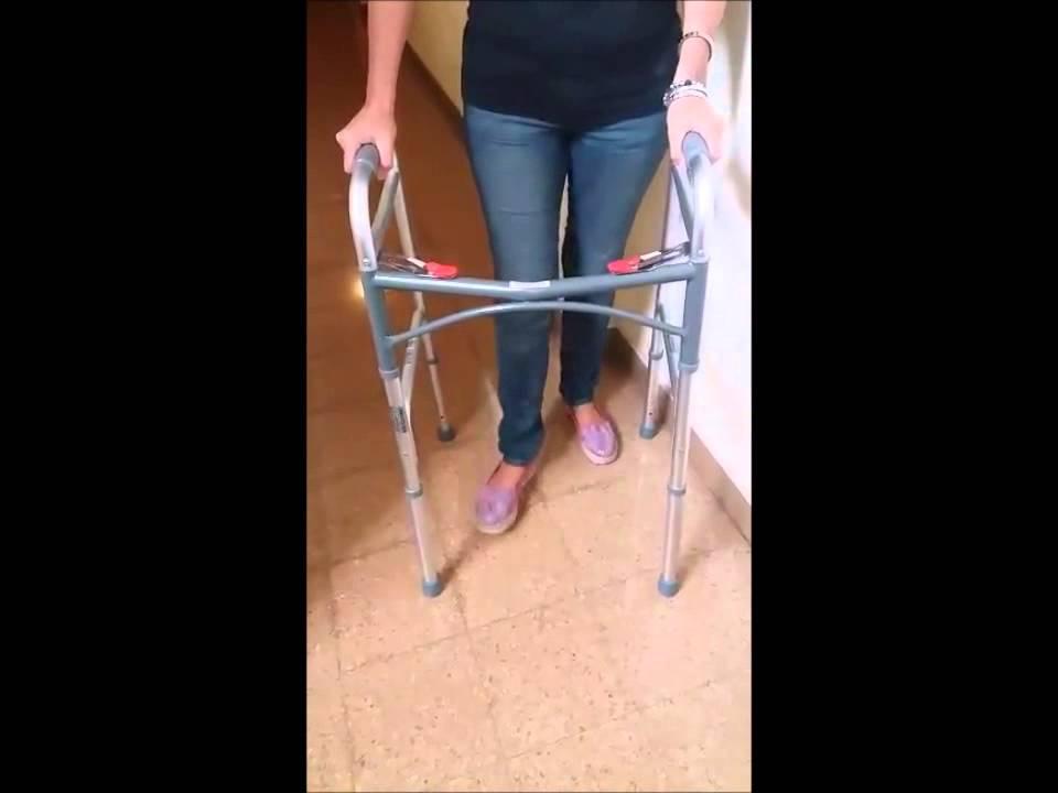Andador Ortopédico Fijo Plegable Botón Rojo de Aluminio | Reforzado ...