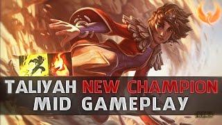 league of legends taliyah new champion mid gameplay op op op pt br