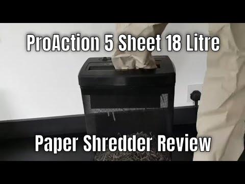 ProAction 5 Sheet 18 Litre Paper Shredder Review